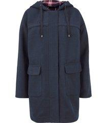 cappotto in simil lana con cappuccio (blu) - bpc bonprix collection
