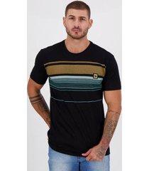 camiseta hang loose silk stripe preta - masculino