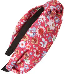 tasha knotted floral headband in pink multi at nordstrom