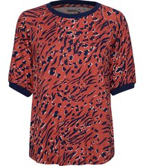 frhiround 1 t-shirt t-shirts & tops short-sleeved röd fransa