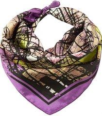 pañuelo violeta bohemia estampado