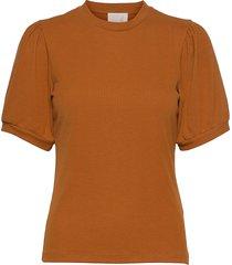 johanna tee t-shirts & tops short-sleeved brun minus