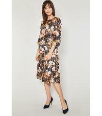szyfonowa sukienka w kwiaty remo