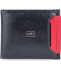 billetera porta billetes con tarjetero e nero rosso millenium