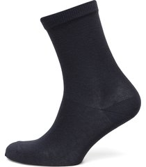 ankle cotton plain lingerie hosiery socks blå mp denmark
