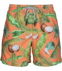 pantaloneta cocos palma naranja