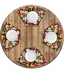 jogo americano love decor para mesa redonda wevans premium pizza kit com 4 pçs