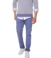 pantalon azul 1119 preppy chino 98% algodón 2% elastano bota 19