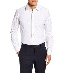 men's david donahue trim fit dress shirt, size 15.5 - 34/35 - white