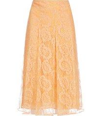 fendi paisley-motif lace midi skirt