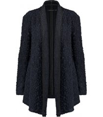only donkerblauw boucle wool jacket vest