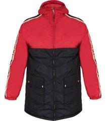 gucci blu and red padded boy jacket