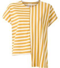osklen summer stripe asymmetric blouse - multicolour