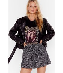 womens some mutt say dalmatioan high-waisted shorts - black