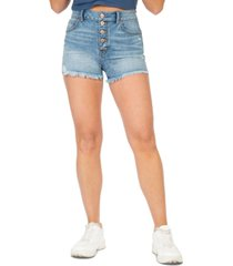rewash juniors' super high-rise wedge jean shorts