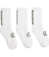 maharishi socks in white cotton