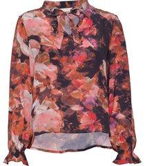baiakb blouse blus långärmad multi/mönstrad karen by simonsen