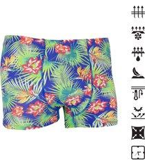 cueca under up boxer tech confort tropical - azul - masculino - poliamida - dafiti