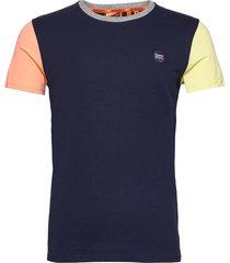 collective baseball tee t-shirts short-sleeved blå superdry