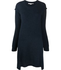 stella mccartney loose drop-shoulder knit dress - blue