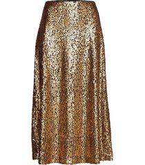 troye skirt knälång kjol guld just female