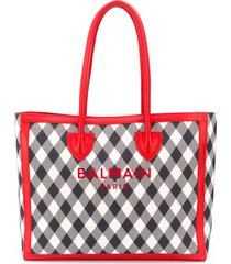 balmain b-army tote bag - blue