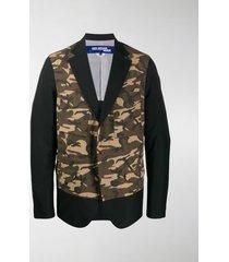 junya watanabe man camouflage panel blazer