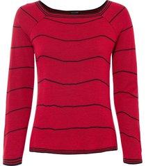 maglione a righe (rosso) - bodyflirt