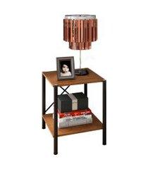 mesa de cabeceira light demolição e preto