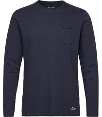 bhnicolai tee l.s. noos t-shirts long-sleeved blå blend