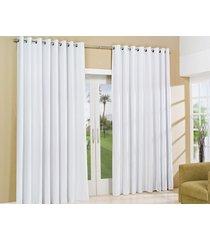 cortina 2,80m x 2,30m cortina blackout blackout  liso com 1 peã§as - bernadete casa - branco - dafiti