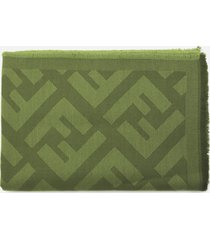 fendi wool and cashmere scarf with all-over ff motif