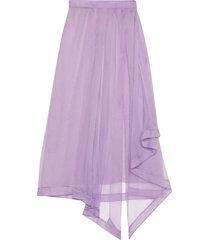gucci sheer draped skirt - purple