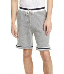men's john elliott boucle wool blend shorts, size x-large - grey