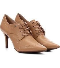 ankle boot couro jorge bischoff salto fino amarração - feminino