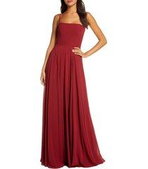 women's jenny yoo renee chiffon a-line gown, size 0 - purple