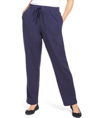 karen scott sport french terry ribbon trim pants, created for macy's