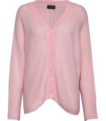5194 - silje cardigan gebreide trui cardigan roze sand