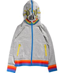 stella mccartney monster sweatshirt with zip and gray hood