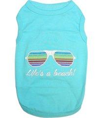 parisian pet life's a beach dog t-shirt