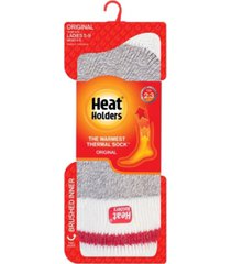heat holders women's original cream block twist thermal socks