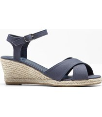 sandali con zeppa (blu) - bpc bonprix collection