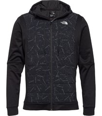 m train n logo hybrid insulated jacket gevoerd jack zwart the north face