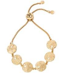 jessica simpson women's sand dollar slider bracelet