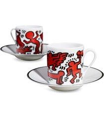 keith haring 'limoge' porcelain espresso set