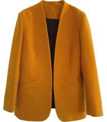 wool v-neck blazer
