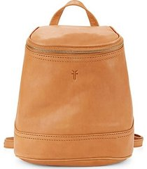 madison zip top leather backpack