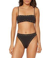stella studded bikini top