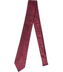 gravata alfaiataria burguesia jacquard 1260 fios vermelho - vermelho - masculino - dafiti