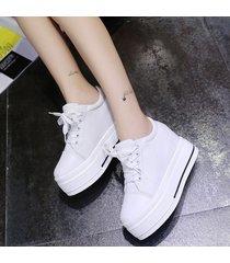 zapatillas de lona con plataforma lifeenjoy lay7182167 para mujer-blanco